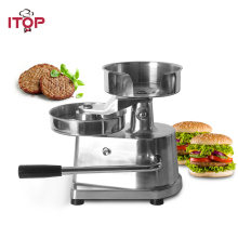 ITOP 100-150mm Manual Hamburger Press Machine Aluminum Alloy Burger Forming Meat Patty Makers