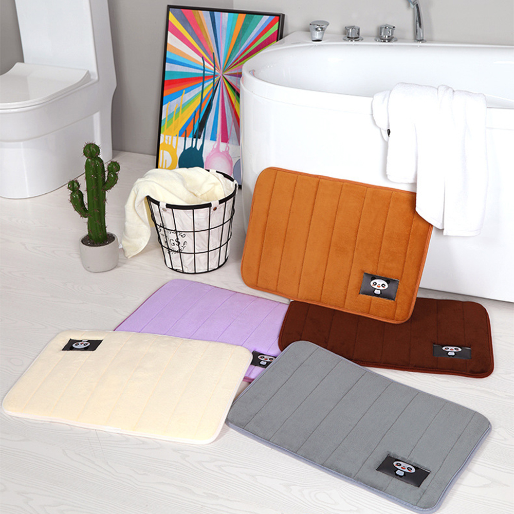 2019New Water Absorption Rug Bathroom Anti Slip Mat Memory Foam Non-slip Bathtub Carpet Bath Mat Kitchen Door Multiple Sizes D25