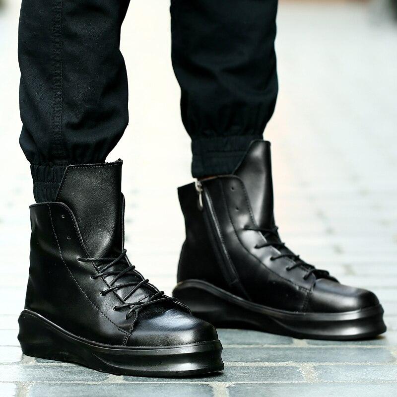 Fashion Trend Men Casual Shoes Tenis Leather Trainers Male 2019 Sneakers Men Zapatillas Hombre High Tops Shoes Men Scarpe Uomo