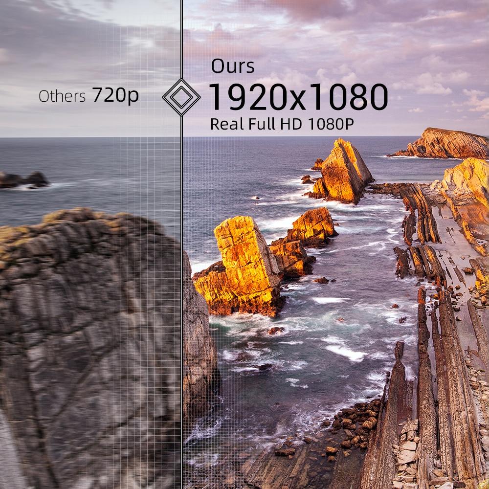 BYINTEK K18 Mais Barato 1920x1080 Full HD 1080P Mini Projetor Portátil Game LCD LED 3D (Opcional Android 10 TV BOX  para Smartphone)-1