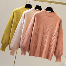 Fashion Cashmere Sweater Women Leisure Bat Sleeve Casual Winter Pure Warm Pullover Autumn Knit O-neck Solid Tops Loose Sweaters women cloak sweater 2019 autumn new loose bat kitted sweater embroidery fashion tops spring leisure women pullover knitwear fc90