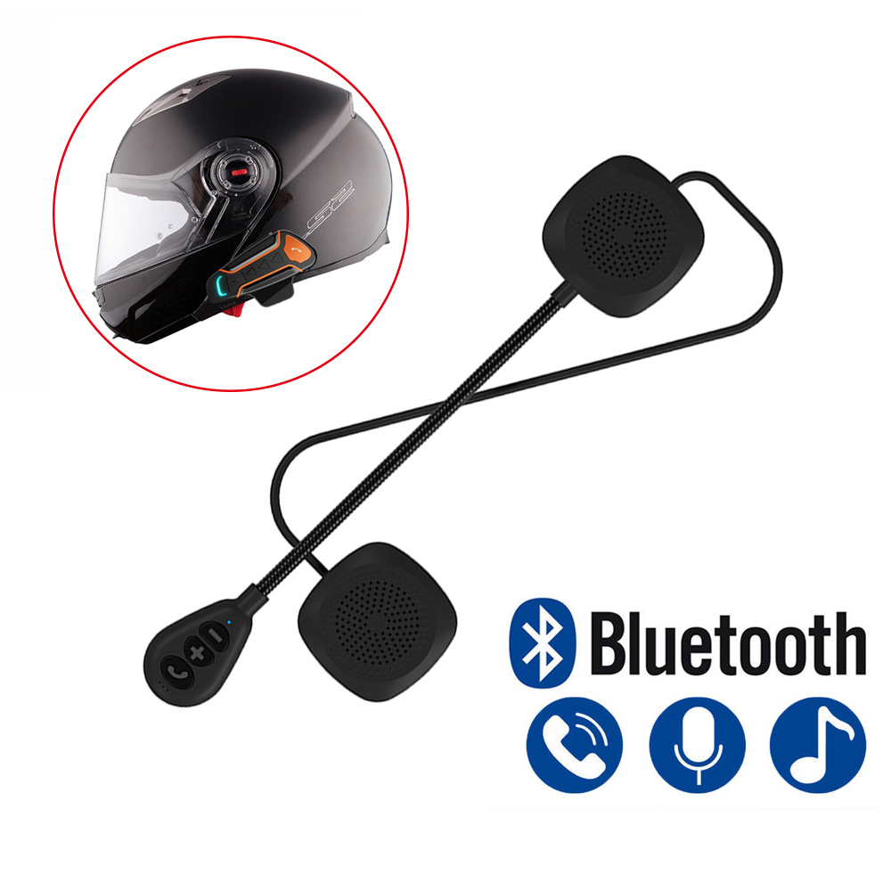 2019 New Anti-interference Motorcycle Helmet Bluetooth Earphone Headphone Speaker Handsfree Music For MP3 MP4 Smartphone