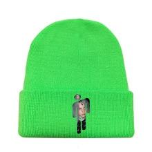 2020 KPOP Billie Eilish Knitted Hats Unisex Solid Hip-hop Skullies Winter Hat 12 Colours Outdoor Casual Sport Cap