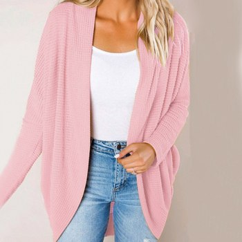 Autumn Knitwear Cardigan Sweater Women Long Sleeve Plus Size Knitted Sweaters Fashion Solid Loose Fe