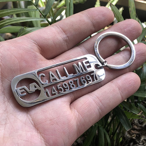 Handmade Custom Keychain For Car Logo Name Stainless Steel Personalized Gift Customized Anti-lost Keyring Key Chain Ring Gifts