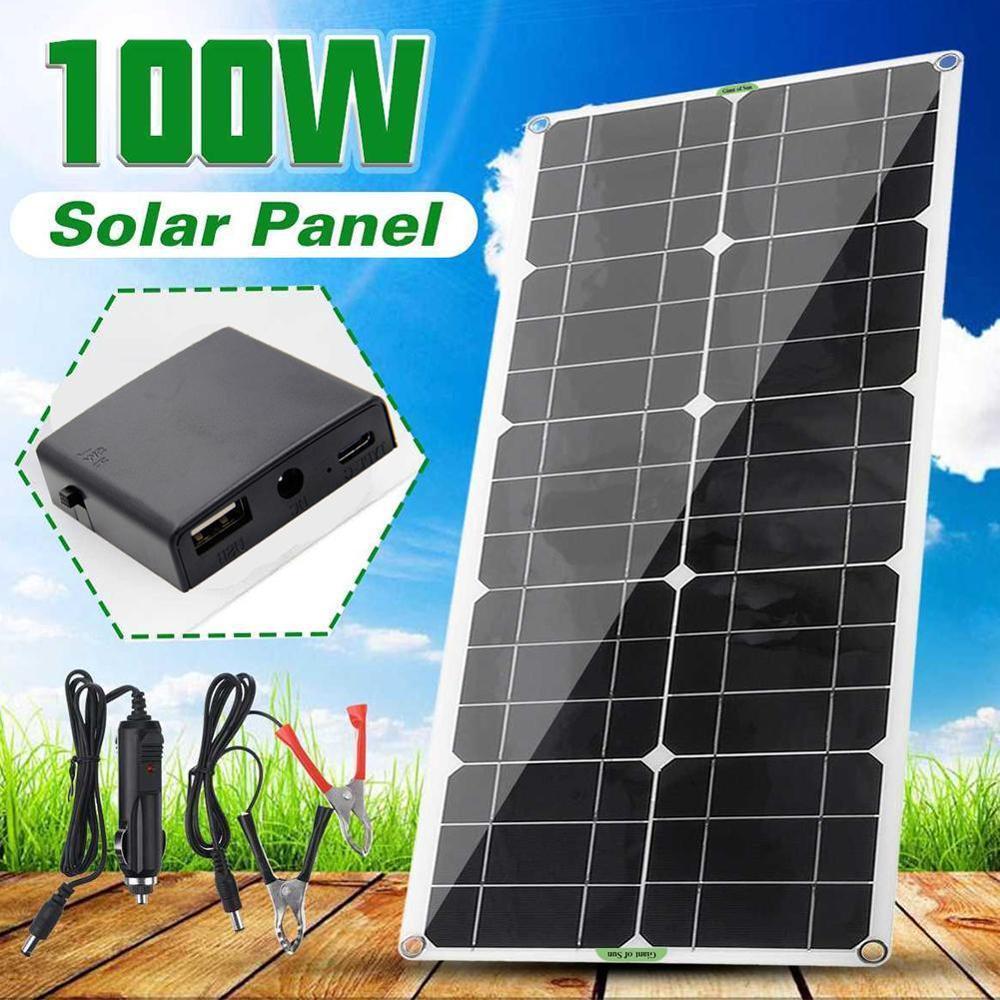 painel solar 100w duplo usb 18v 5v 10 20 30 40 50a controlador de regulador de