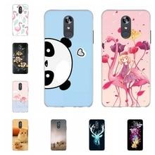 For LG Q Stylo 4 Stylus Case Soft TPU Silicone Cover Panda Patterned Plus Funda