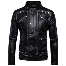 Men's Motorcycle Multi-zip Men's Leather Jacket Leather Jacket