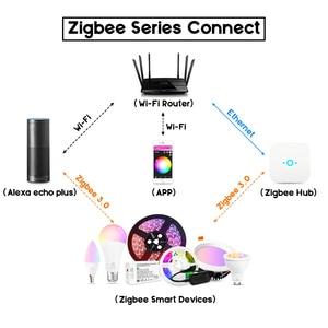Image 5 - GLED0PTO زيجبي Mr16 led الأضواء 4 واط RGB/CCT LED لمبة DC12V العمل مع smartthins زيجبي محور صدى زائد هاتف ذكي التحكم في الضوء