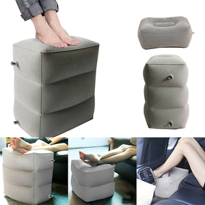 Image 3 - 3 Layers Inflatable Travel Foot Rest Pillow Airplane Train Car Foot Rest Cushion Like Storage Bag & Dust Cover Inflatable Pillow