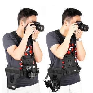 Image 2 - SK MSP01 Camera Vest Multi Camera Carrier Taille Riem Riem Carrier Harness Holster Systeem Soft Padded Strap Fotograaf Vest