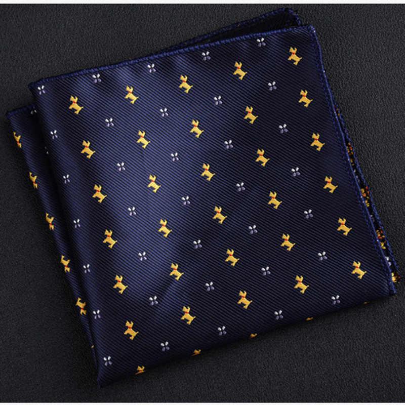 Nuovo di Tasca di Modo Quadrato Verde Navy Colorato Fazzoletto 22*22 centimetri di Seta A Strisce Floreale Paisley Fazzoletto Vestito degli uomini da Sposa di Business