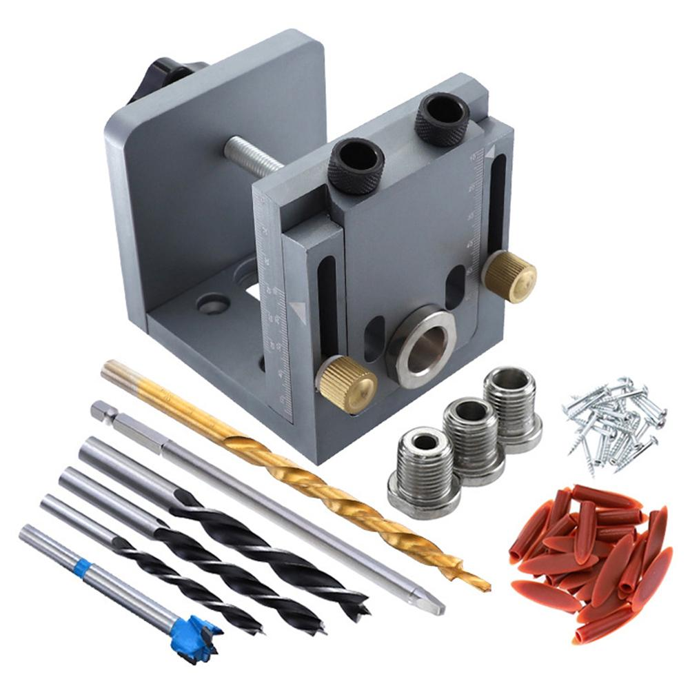 Woodworking Hole Drill Puncher Positioner Guide Locator Jig Joinery System Kit Woodworking Parts For Unassembled Cabinet
