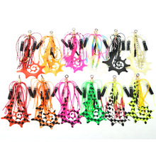 Kabura Jigging Madai Assist Hooks Strong Tai Rubbers Silicone Skirts Filaments Ribbons Different Colors Slider Jigs Tails Sinker