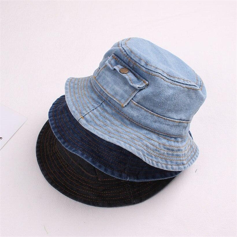 WDDYYBF Bucket Hat,Panama Bucket Hat Boys Girls Summer Sunscreen Bucket Hat Kids Navy Blue Fisherman Hat Wide Brim Sun Cap With Adjustable Strap For 0-8 Year