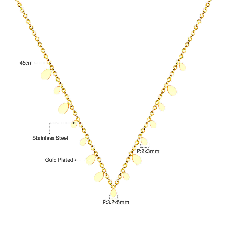 LUXUKISSKIDS kropla wody wisiorek naszyjnik ze stali nierdzewnej biżuteria łańcuchy damskie naszyjniki obroże akcesoria Party 2019 Hot