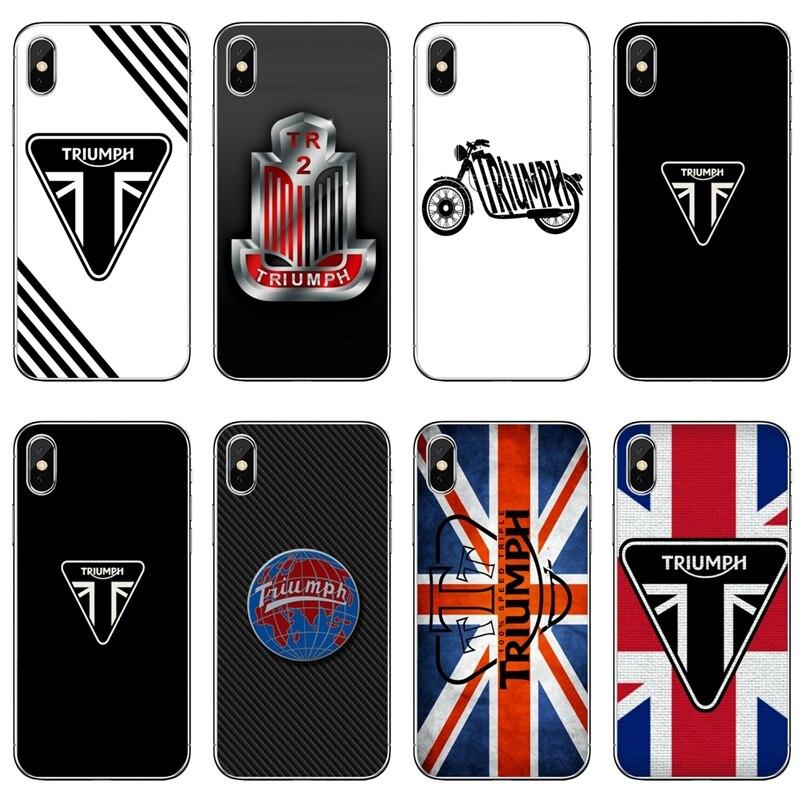Para o iphone 11 pro XR X XS Max 8 7 6s plus SE 5S 5c iPod Touch 5 6 caso da tampa do Triunfo Do Logotipo Da Motocicleta