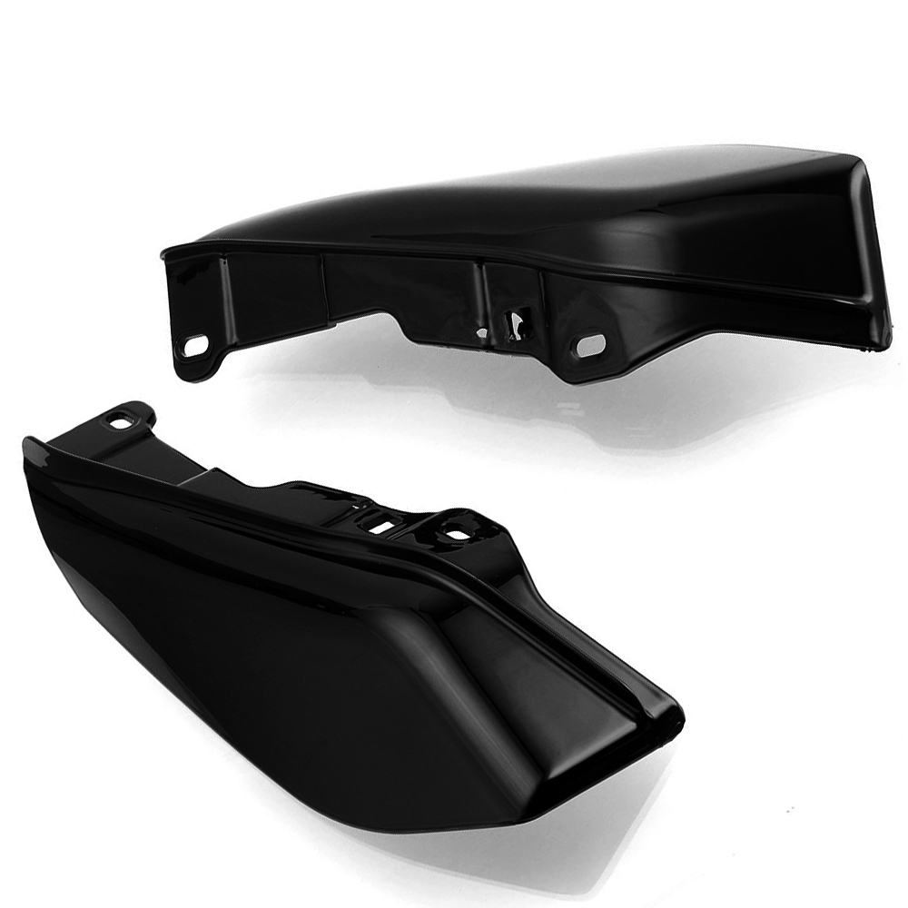 For Touring Electra Street Glide Road King CVO Limited FL FLTR Black Mid Frame Air Deflectors Trim Heat Shield Fit in Covers Ornamental Mouldings from Automobiles Motorcycles