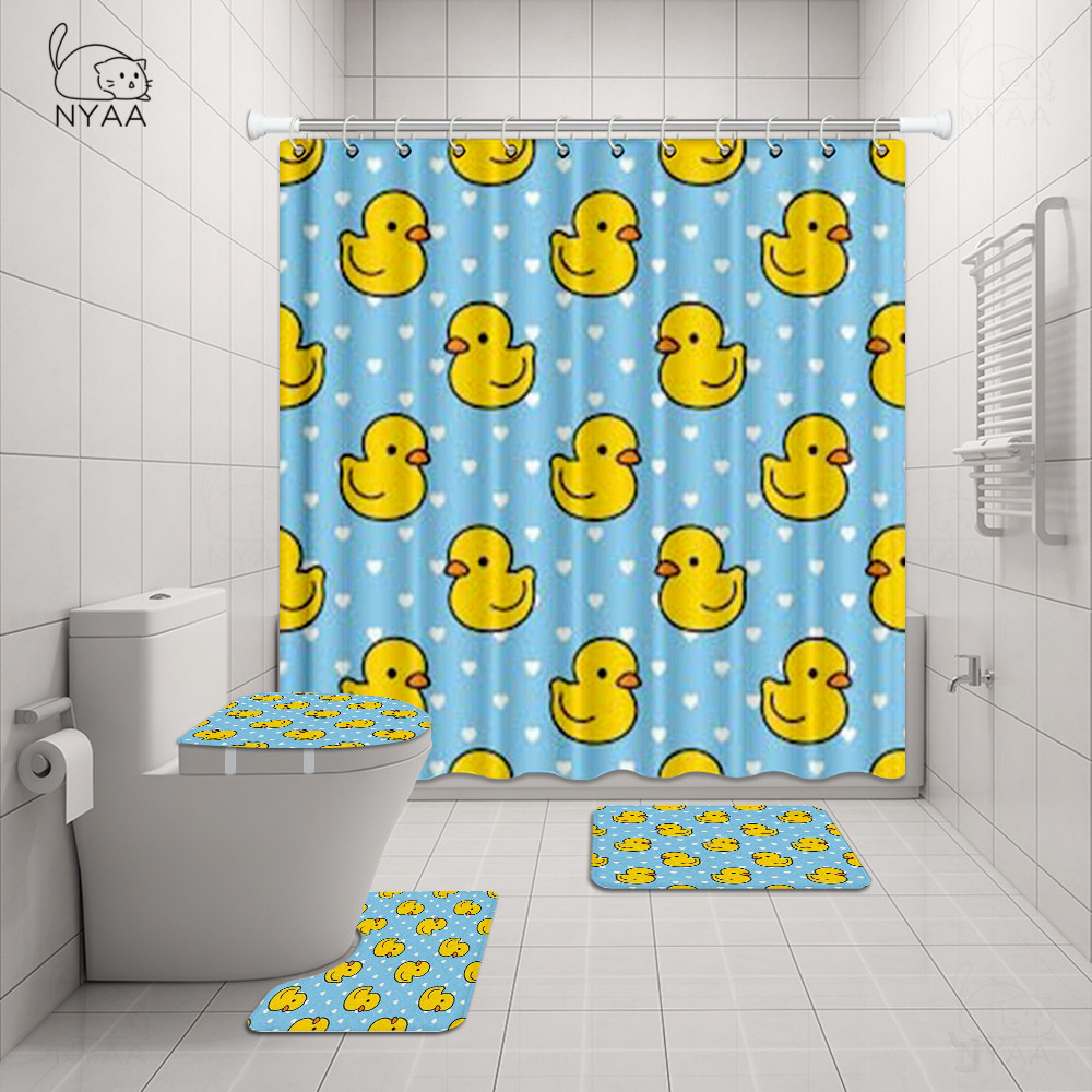 Cartoon Cute Duck Shower Curtain