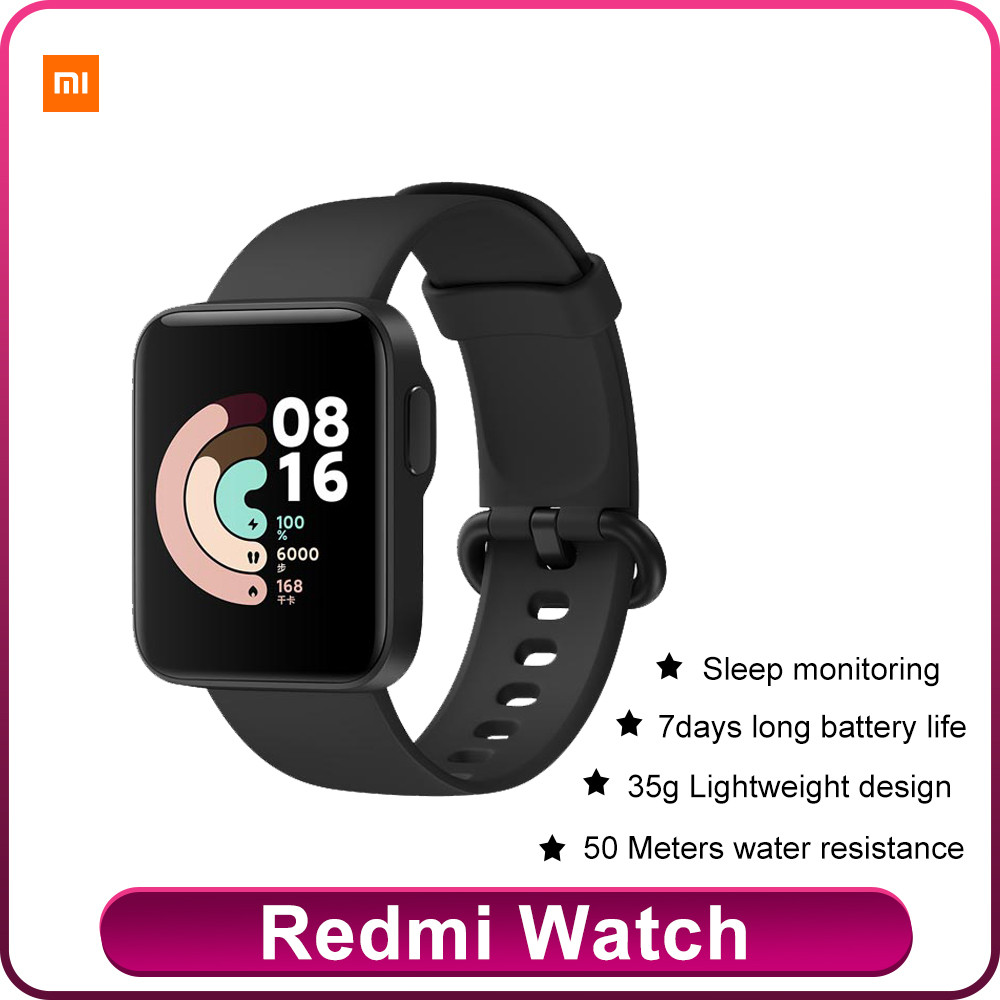 Pre-sale Xiaomi Redmi Watch  Heart Rate Sleep Monitor IP68 Waterproof With 35g 1.4-Inch High-definition Large Screen Lightweight