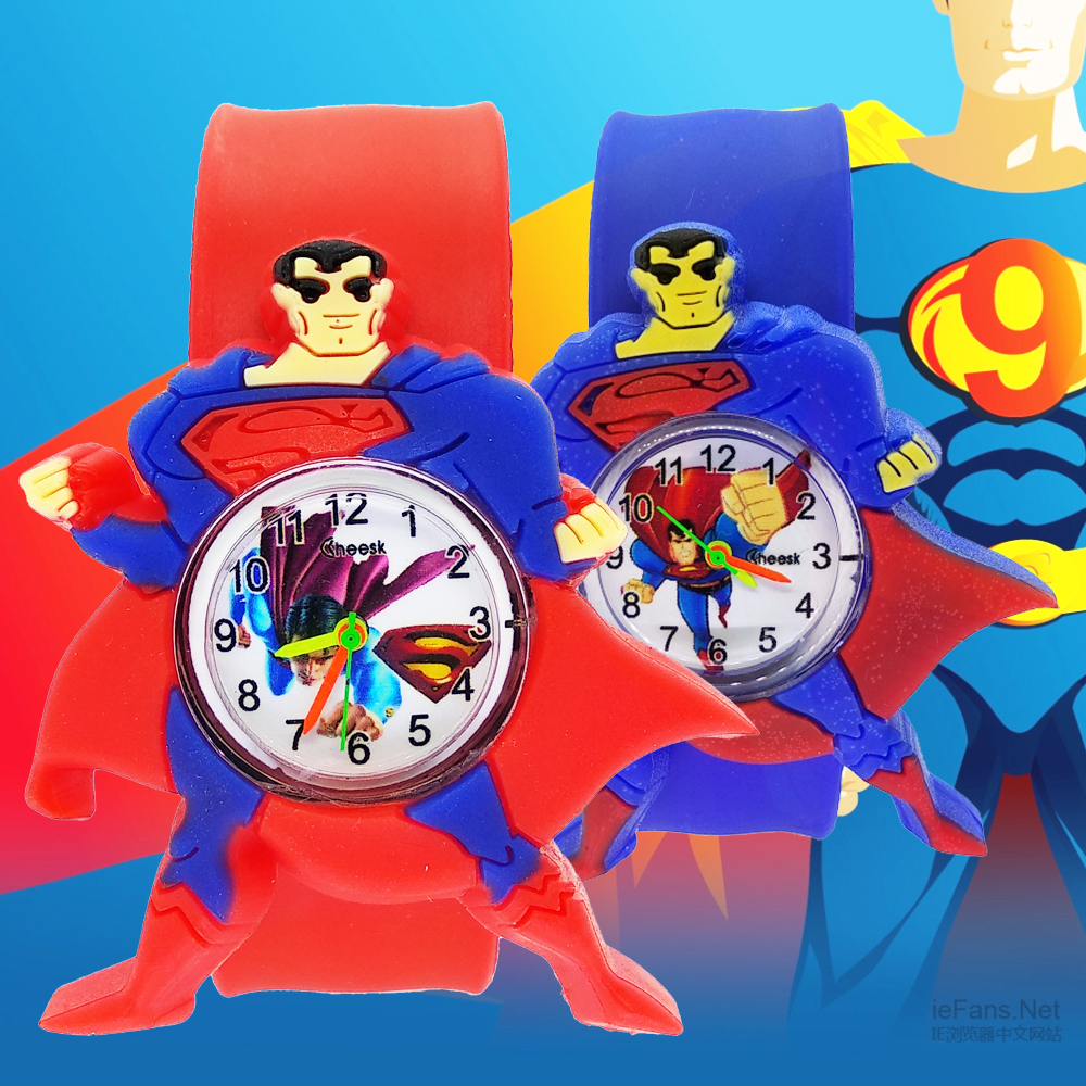 New Varieties Spiderman Kids Silicone Quartz Watch Strap Bracelet Cartoon Superman Design Child Wrist Watches For Children Gift
