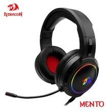 Redragon Mento H270 RGB سماعات للعب ، 3.5 مللي متر الصوت المحيطي سماعة رأس للكمبيوتر سماعات ميكروفون للكمبيوتر ماك PS4 Xbox one