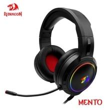 Redragon Mento – casque découte de jeu H270 rvb, son Surround 3.5mm, écouteurs dordinateur, Microphone pour PC MAC PS4 Xbox one