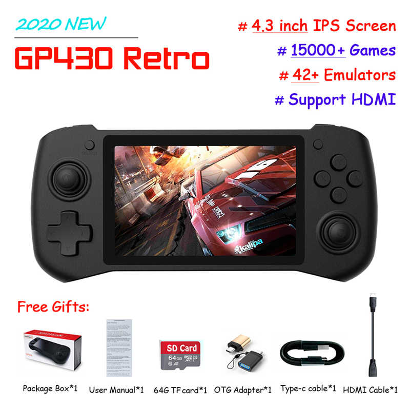 Portable Rk2020 Retro Handheld Game Console 3 5 Inch 64bit Open Source System For Psp N64 Ps1 Gba Gbc Built In 15000 Games Handheld Game Players Aliexpress