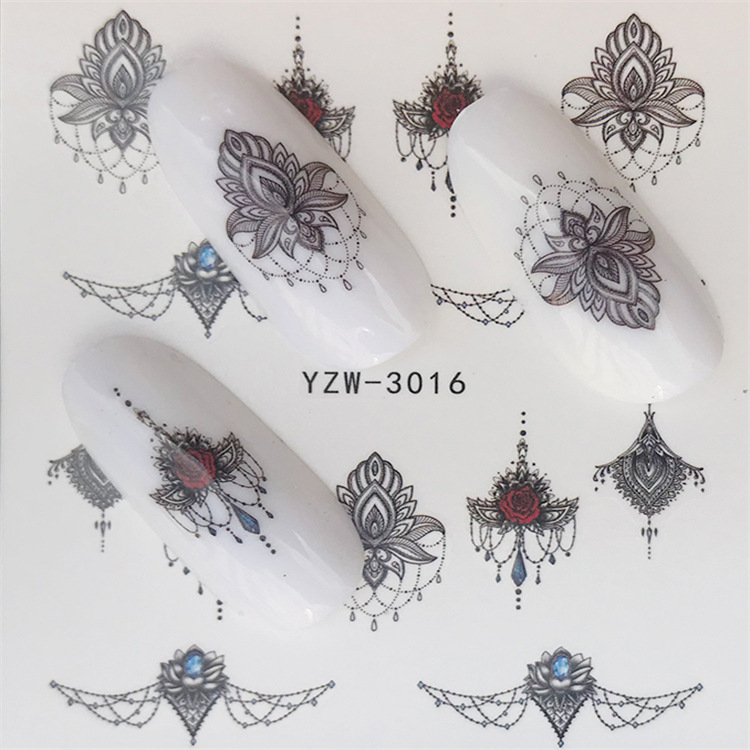Spring New Products Butterfly Flower Environmentally Friendly Watermark Nail Sticker Environmentally Friendly Non-toxic Pregnant