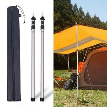2 szt. Regulowane 0.9 do 2.3M zewnętrzne wsporniki Sunshelter aluminiowe słupki do namiotu w Akcesoria do namiotów od Sport i rozrywka na