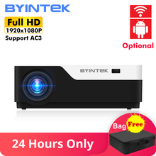 BYINTEK MOON K11 Smart Android Wifi 200inch 1920x1080 1080P FULL HD LED Video Projector with HD USB For Home Theater Cinema 2017 byintek gp90 gp90up 1280x800 smart android wifi cinema usb full hd video wxga led hdmi vga 1080p home theater projector