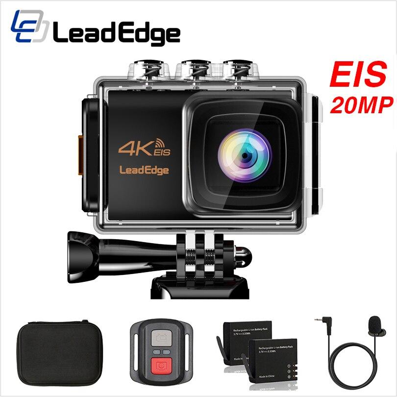 LeadEdge LE7000 Экшн камера 4K 30FPS 20MP EIS внешний микрофон WiFi Водонепроницаемая камера для шлема Pro подводная спортивная камера Экшн-камеры      АлиЭкспресс