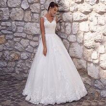 Элегантный v образный Вырез свадебные платья из фатина 2021