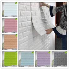 60*60cm 3D Wall Stickers DIY Brick Bedroom Decor Waterproof Self-adhesive Wallpaper for Kids Room Living Room Kitchen цена и фото