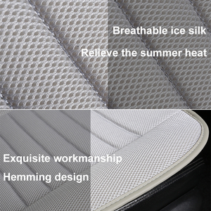 Image 2 - Ultra Luxury Car Seat Protection Single Seat Without Backrest Breathable Ice silk Car Seat Cover For Most Four Door Sedan&SUV