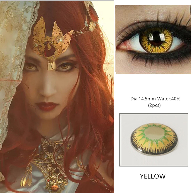 EYESHARE 1 Pair  Beautiful Pupil  Eye Cosmetic Colorful Contact Lens Halloween Cosplay Lenses Crazy Lens for Eyes 2
