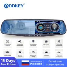 ADDKEY Автомобильный видеорегистратор, радар-детектор камера в зеркале заднего вида FHD 1080P регистратор Dashcam Speedcam Анти радар для России видеорегистратор