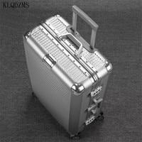 KLQDZMS 20''24''26''29 Zoll Reise Koffer Auf Stumm räder PC Trolley Retro Gepäck Kabine Roll Modische Box