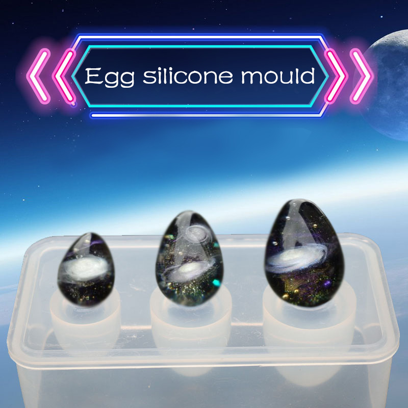 1PC Egg Ball Shaped Silicone Jewelry Mold UV Resin Epoxy Tools Jewelry Making Tools DIY Pendant Molds