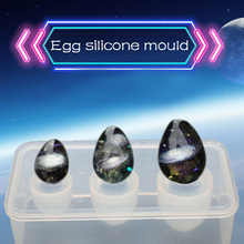 1PC Egg Ball Shaped Silicone Jewelry Mold UV Resin Epoxy Tools Jewelry Making Tools DIY Pendant Molds gravers standard block ball vise jewelry making tools gemstone setting engraving ball jewelry tools and equipment