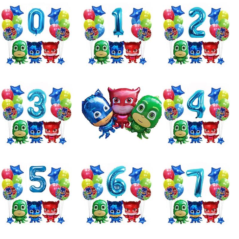 Original Pj Masks Birthday Party Toys Set Room Decoration PjMask Juguete Cartoon Anmie Figures Balloons Kids Toys For Children
