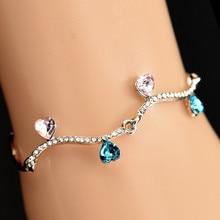 Charm Bracelet for Women Silver/Gold Plated Bangle Bracelet Women Luxury Jewelry Designer Bracelet Heart Shape Women Jewelry classic heart pattern bracelet for women