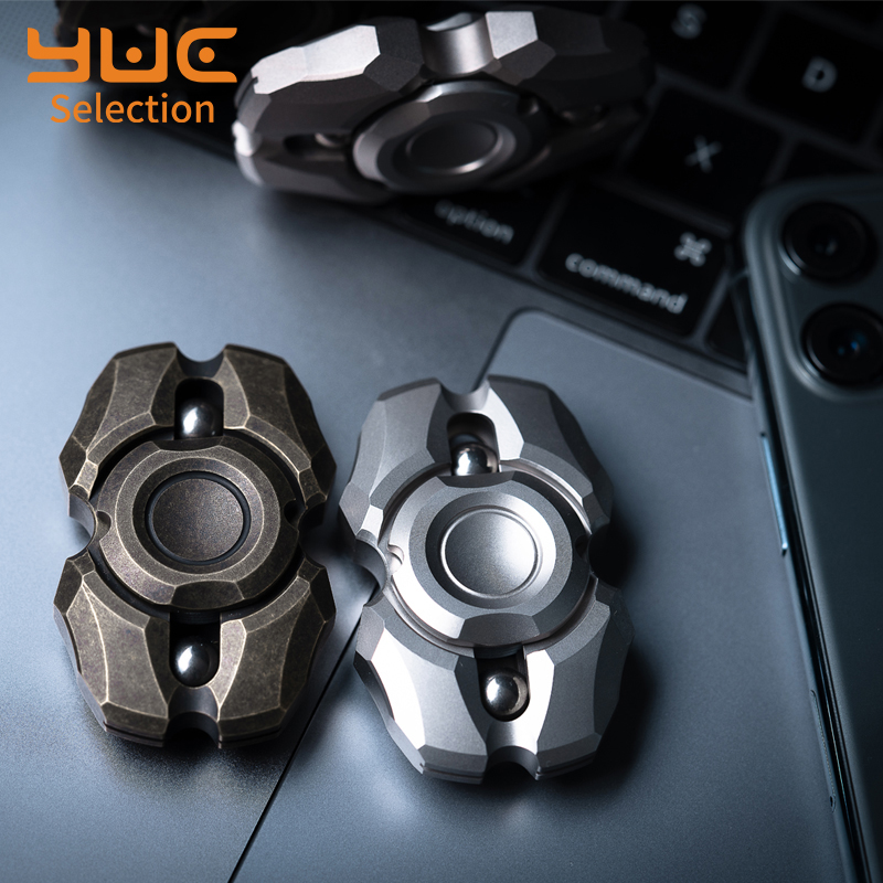 YUC Pulse Metal Hand Spinners Two Leaf EDC Portable Small Toy High Speed 688 Mult Bearing Office Relief Stress Toy For Kids