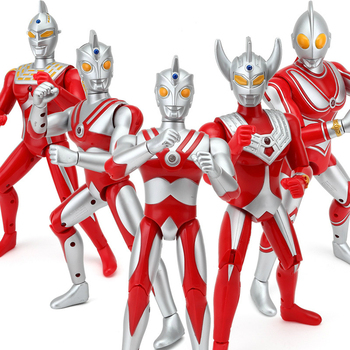 18cm 25cm Ultraman Taro Seven Jack Ace Cute Action Figures PVC Doll Collection Model Sound Toys Children's Holiday gifts high quality original fake kaws pinocchio puppet standingtype 25cm viny pvc resin action figures fashion toys