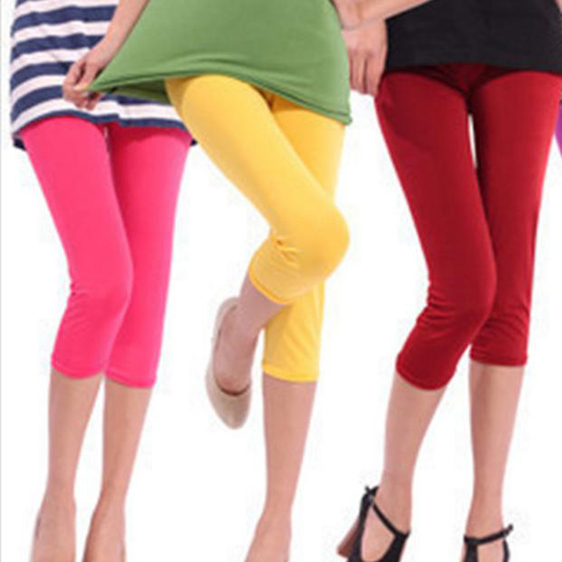 Fashion Casual Leggings One Size Slim Solid High Waist Women Sports Compression Athletic Gym Fitness Running Summer Clothes