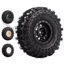 """4 pièces/ensemble 1.9 pouces pneus de camion de Terrain de roche et 1.9 """"jante de roue en plastique pour 1:10 RC chenille axiale SCX10 90046 AXI03007 Tamiya CC01 D90"""