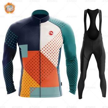 Conjunto de Ropa térmica de lana para Ciclismo para hombre, Jersey, Ropa...