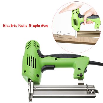 Framing Tacker U Stapler Electric Staples Gun With 100Pcs Nails 220V 1800W Electric Power Tools For Woodworking Hand Tool