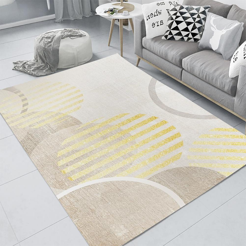 Home Carpet Thickened Nordic Geometric Minimalist Carpet Anti-slip Mat Waterproof Carpet For Home Bedroom Living Room New