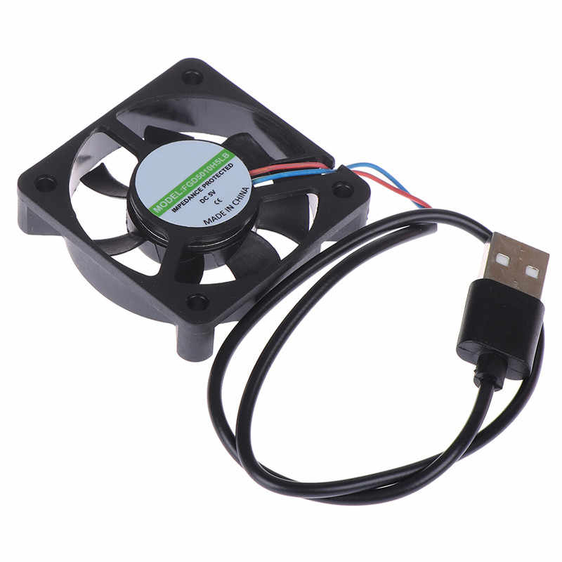 Hot Sale 1 PC 5V USB Konektor PC Fan Cooler Heatsink Exhaust Kipas Pendingin CPU Pengganti dengan 45 Cm kabel 50x50x10MM